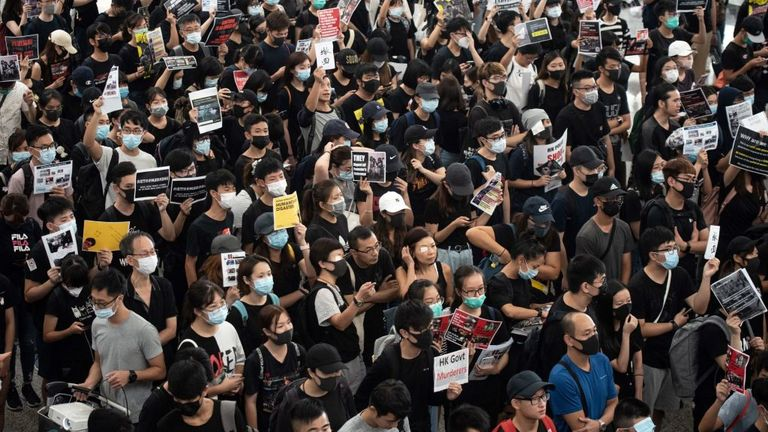 The survey, called 'Onsite Survey Findings in Hong Kong's Anti-Extradition Bill Protests' was published August 12.