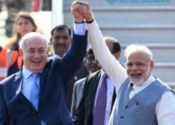Narendra Modi and Benjamin Netanyahu. File pic