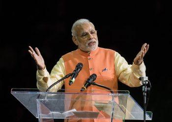 Prime Minister Narendra Modi at Madison Square. File pic