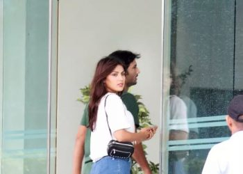 Recently, Sushant and Rhea were snapped together in Mumbai.