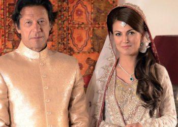 Imran Khan and former wife Reham Khan. File pic