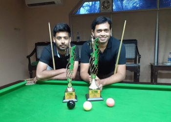 Soubhagya Behera and Subrat Das pose with their trophies