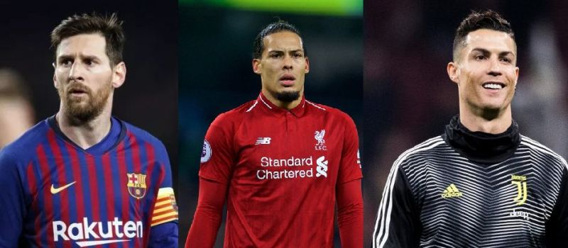 (From Left): Lionel Messi, Virgil Van Dijk and Cristiano Ronaldo