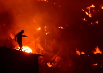The fire broke out at in Dhaka's Mirpur neighbourhood late Friday and razed around 2,000 mostly tin shacks, fire services official Ershad Hossain said.