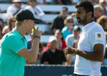 The unseeded duo of Bopanna and Shapovalov lost 6-7 (3-7), 6-7 to the Dutch combination of Robin Haase and Wesley Koolhof in a hard-fought contest.