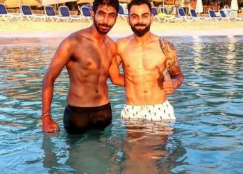 Yuvi pulls Bumrah's leg for showing six-pack abs with Virat Kohli; see pics