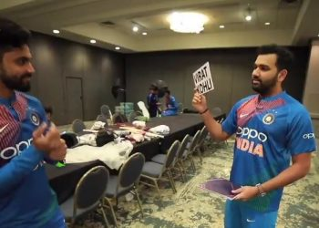 In a one-minute video posted on the official Instagram account of the Indian team, Rohit is seen guessing the players enacted by Jadeja.