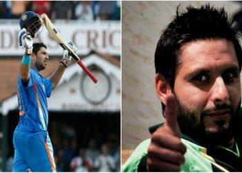 Pakistani cricketers Shoaib Malik, Afridi praise Yuvraj for his charity work