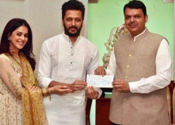Riteish, Genelia donate Rs.25 lakh for Maharashtra flood relief