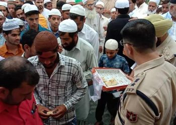 According to the Union Home Ministry, people came out in good numbers to offer Eid prayers in Jammu and Kashmir and 'namaz' was offered at prominent mosques in Srinagar and Shopian.