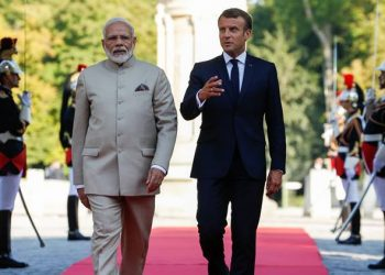 Prime Minister Narendra Modi held talks with French President Emmanuel Macron Thursday at Chateau de Chantilly.