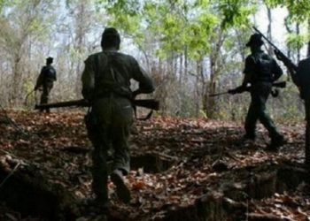 Five Naxals were killed Saturday in the gun-battle with the DRG in a dense forest area of the district, located about 350 km from the state capital Raipur.