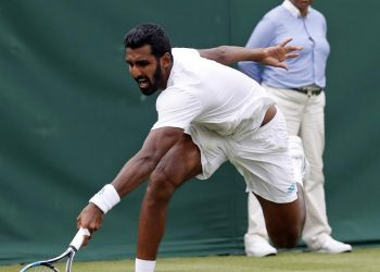 The left-handed Indian, ranked 89, could convert just one of his five break chances to suffer a 3-6, 5-7 loss to his French opponent in a match that lasted one hour and 10 minutes Tuesday night.