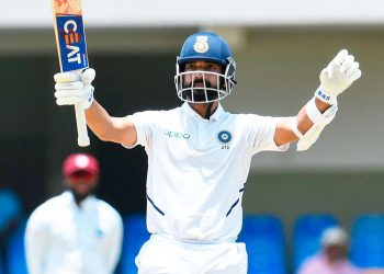 Rahane played match-winning knocks of 81 and 102 in the first Test against the West Indies which India won by a huge margin of 381 runs in Antigua.