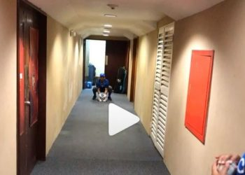 The Men in Blue were forced to train indoors with many even using the hotel corridor for practice.