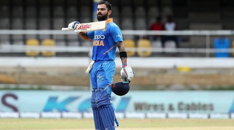 India batted first after winning the toss, going in with an unchanged eleven from the first ODI that was washed out in Guyana Thursday..