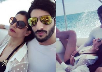 Sushmita Sen hits the beach in mini skirt with BF in Maldives; See pics