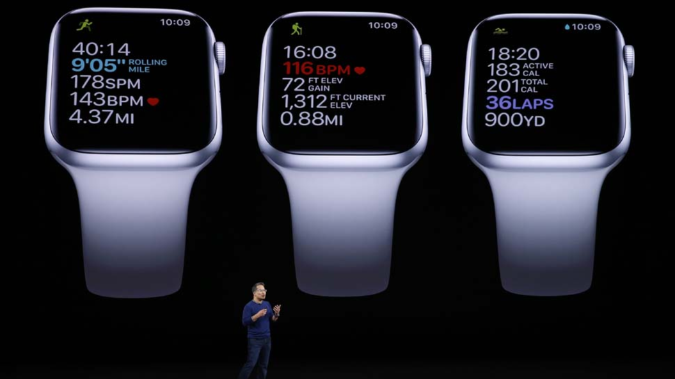 Apple's latest watch adds always-on screen, new titanium cases