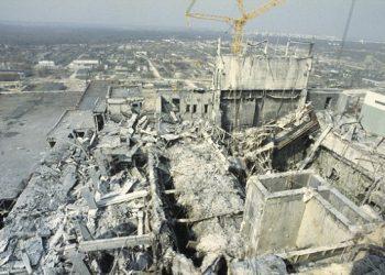 The Chernobyl tragedy site