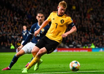 Kevin De Bryune was standout performer for Belgium against Scotland