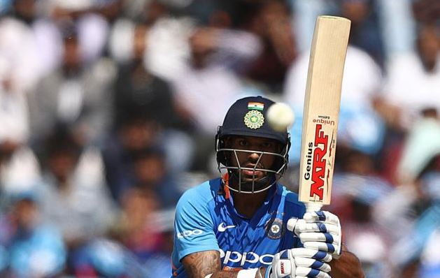 India 'A' were 56 for 1 in 7.4 overs with Dhawan (34) and Prashant Chopra (6) at the crease when the skies opened up.