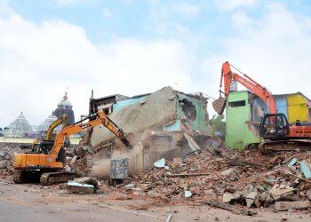 Demolition of Bada Akhada mutt in Puri (File photo)