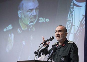 In this undated photo released by Sepahnews, the website of the Iran's Islamic Revolutionary Guard Corps, Gen. Hossein Salami speaks in a meeting in Tehran, Iran. (AP)
