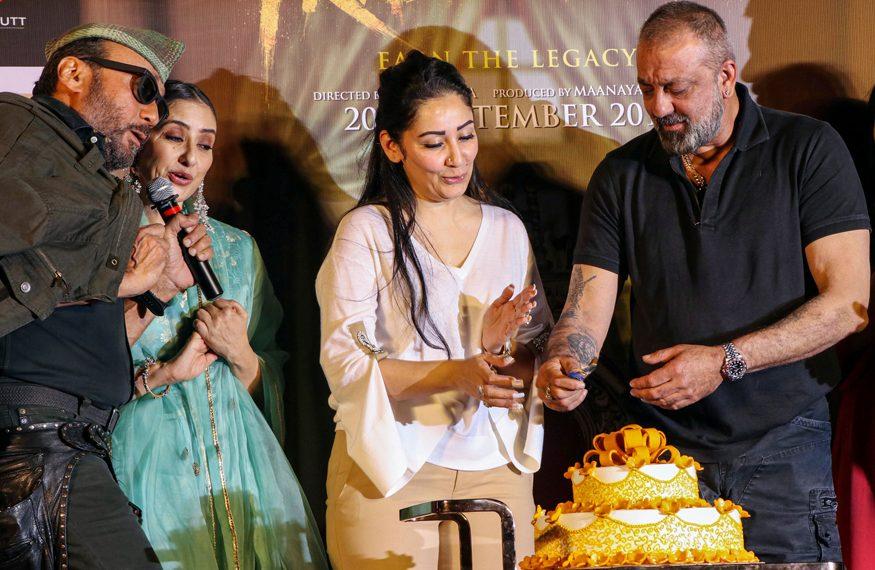 (From L) Jackie Shroff, Manisha Koirala, Manyata Dutt and Sanjay Dutt