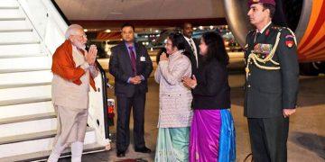 PM Modi leaves for Houston. File pic