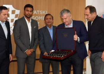 CFF president Davor Suker and CEO Marijan Kustic hosted All India Football Federation (AIFF) general secretary Kushal Das and Director of the National Team Abhishek Yadav, Sunday.