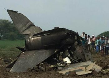 The aircraft, which was on a routine mission, crashed around 10 am, the sources said.