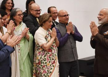 The delegation, which included Kashmiri Pandits from across the US, met Prime Minister Modi on his arrival in Houston as part as part of his week-long visit to the US.