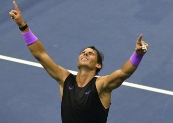 Nadal outlasted Medvedev 7-5, 6-3, 5-7, 4-6, 6-4 in four hours and 49 minutes in front of an electric Arthur Ashe Stadium Sunday.