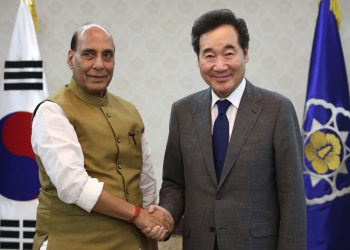 Rajnath Singh is on a three-day official visit to South Korea in the second leg of a two-nation tour which also involved Japan.
