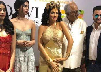 Boney, Janhvi and Khushi unveil Sridevi's wax statue at Madame Tussauds, Singapore