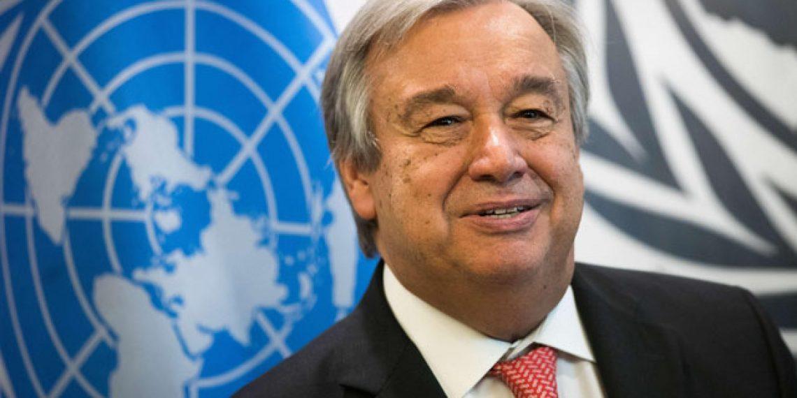 UN chief Antonio Guterres.
