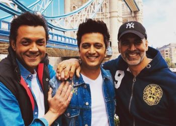 (From left) Bobby Deol, Rietesh Deshmukh and Akshay Kumar