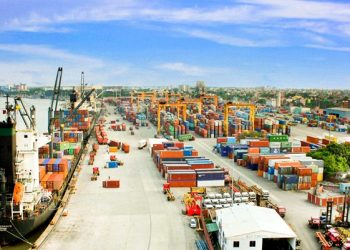 The Chittagong port