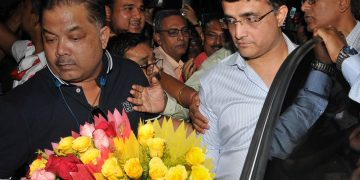 Sourav Ganguly was accorded a warm welcome on his return to Kolkata, Tuesday
