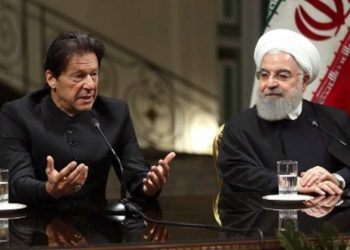 Pakistan PM Imran Khan and Iran President Hassan Rouhani