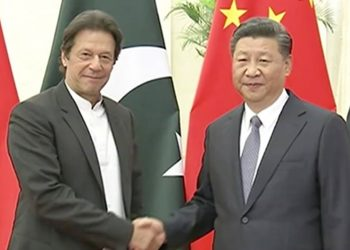 Chinese President Xi Jinping and Pakistan PM Imran Khan. File pic