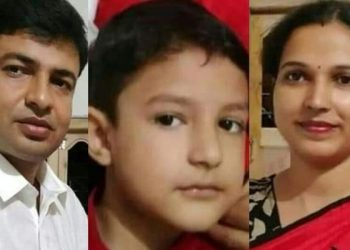 The victims: Bandhu Gopal Pal, his wife Beauty and son