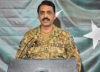 Pakistan's military spokesman Maj Gen Asif Ghafoor