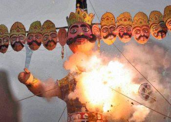 Why Ravana's effigy is burnt on Dussehra?