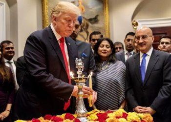 Donald Trump celebrating Diwali at White House. File pic