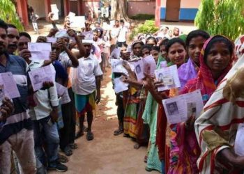 46.83% voting in Jharkhand first phase polling till 2 pm
