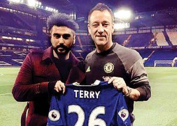 Arjun Kapoor with Chelsea legend John Terry