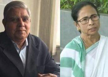 Jagdeep Dhankar and Mamata Banerjee