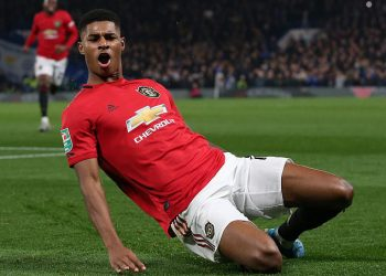 Marcus Rashford got one of the goals for Manchester United against Partizan