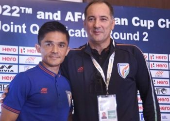 Sunil Chhetri and Igor Stimac